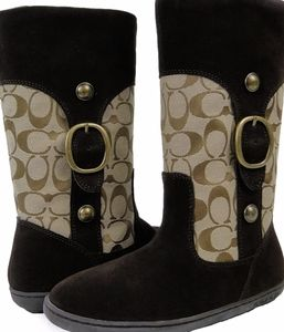 Like New Coach Meyers Signature C Shearling Boots